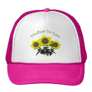 Sunflower Mother-In-Law Mothers Day Gifts Trucker Hat