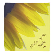 Sunflower MOTHER OF THE BRIDE Bandana