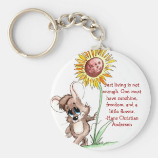 Sunflower Mouse Key Chain