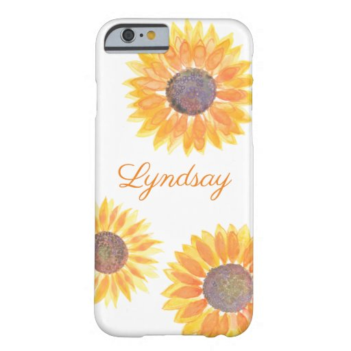 Sunflower Name Barely There iPhone 6 Case
