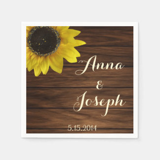 Sunflower napkins