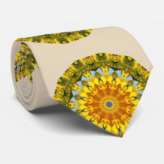 Sunflower Nature 01.2, Flower-Mandala Tie