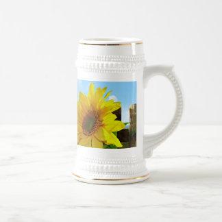 Sunflower Nature Beauty Beer Stein