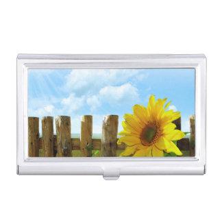 Sunflower Nature Beauty Business Card Case