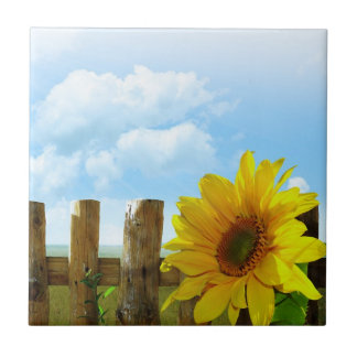 Sunflower Nature Beauty Ceramic Tile