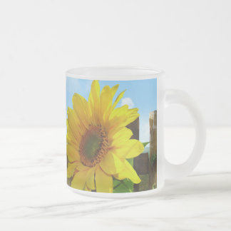 Sunflower Nature Beauty Frosted Glass Coffee Mug