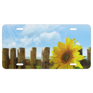 Sunflower Nature Beauty License Plate