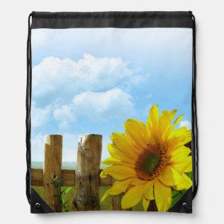 Sunflower Nature Beauty Cinch Bag