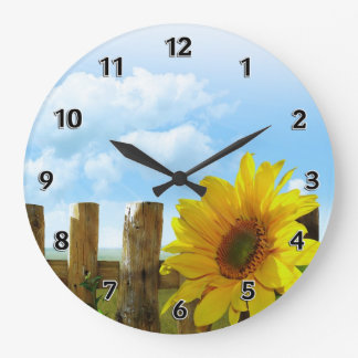 Sunflower Nature Beauty Wallclock
