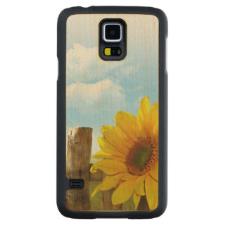 Sunflower Nature Beauty Carved® Maple Galaxy S5 Case
