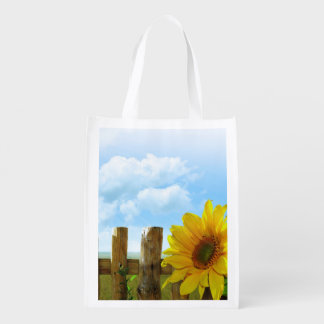 Sunflower Nature Beauty Reusable Grocery Bags