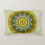 Sunflower Nature, Flower-Mandala Accent Pillow