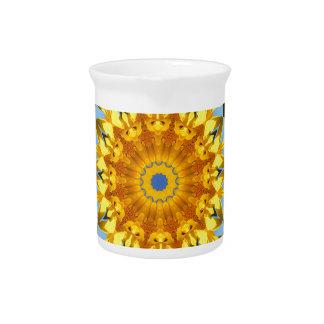 Sunflower Nature, Flower-Mandala (Blumen-Mandala) Pitcher