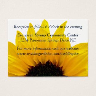 Sunflower Navy Wedding Reception Insert