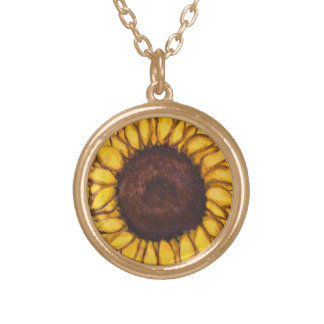 Sunflower Necklace Flower Art Gifts Flower Jewelry