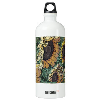 Sunflower Needlepoint #2 Water Bottle