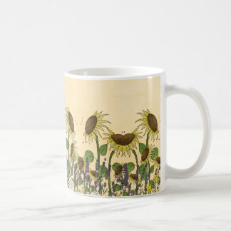 Sunflower Neutral Earth Tone Garden Yellow Country Coffee Mug