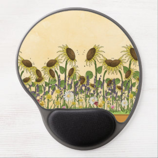 Sunflower Neutral Earth Tone Garden Yellow Country Gel Mouse Pad