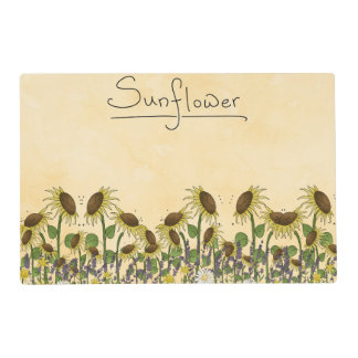 Sunflower Neutral Earth Tone Garden Yellow Country Placemat