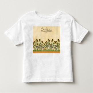 Sunflower Neutral Earth Tone Garden Yellow Country T-shirt