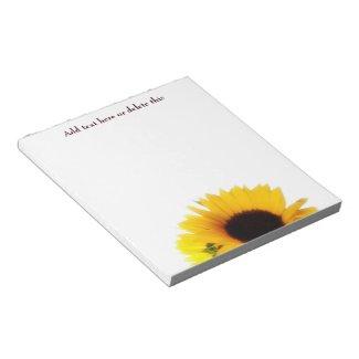 Sunflower Notepad