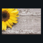 "Sunflower on a Wooden Table Sign<br><div class=""desc"">Bright yellow sunflower on a vintage rustic wooden table</div>"
