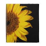 Sunflower on Black - Customized Template iPad Folio Covers