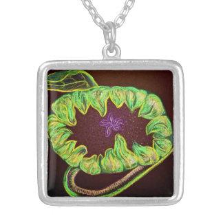 Sunflower on Black Pendant