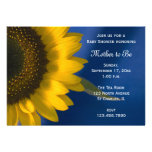 Sunflower on Blue Baby Shower Invitation