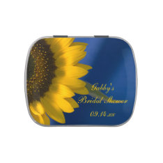 Sunflower on Blue Bridal Shower Favor Candy Tin at Zazzle