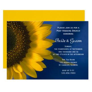 Sunflower on Blue Post Wedding Brunch Invitation