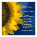 Sunflower on Blue Wedding Invitation