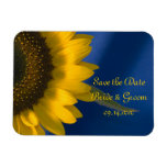 Sunflower on Blue Wedding Save the Date Magnet
