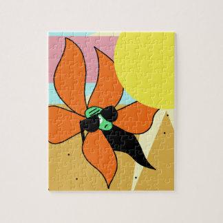 Sunflower on sunbathing jigsaw puzzle