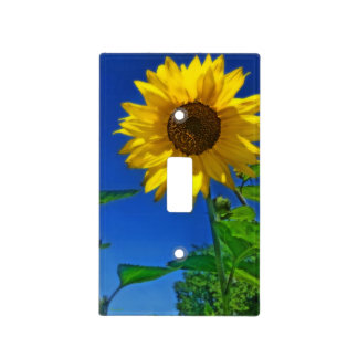 Sunflower on the Blue Sky Single Toggle Switch Plate Covers