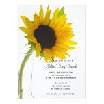 Sunflower on White Mother's Day Brunch Invitation