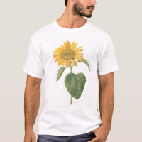 sunflower on white T-Shirt