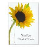 "Sunflower on White Wedding Thank You Notes - Flat 3.5"" X 5"" Invitation Card"