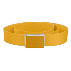 Sunflower Orange Solid Color Belt