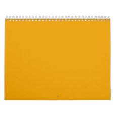 Sunflower Orange Solid Color Calendar