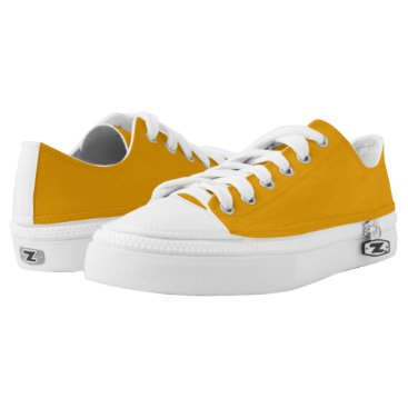 Halloween Themed Sunflower Orange Solid Color Low-Top Sneakers