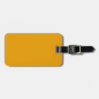 Sunflower Orange Solid Color Luggage Tag