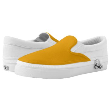 Halloween Themed Sunflower Orange Solid Color Slip-On Sneakers