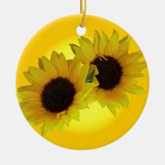 Sunflower Ornament Beautiful Yellow Flower Decor