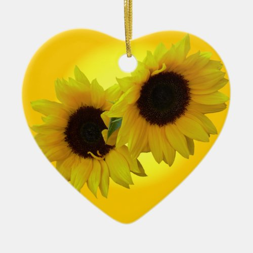 Sunflower Ornament Personalized Sunflower Gifts