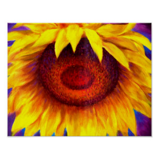 Sunflower Painting Art - Multi Poster