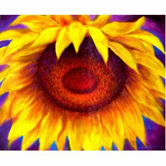 Sunflower Painting Art - Multi Statuette