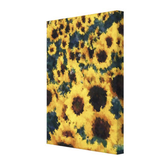 Sunflower painting art - Wrapped canvas