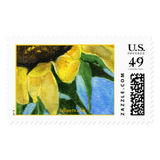 Sunflower Painting Custom Postage Stamp