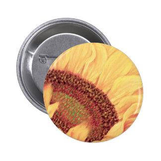 Sunflower Painting Flower Art - Multi 2 Inch Round Button